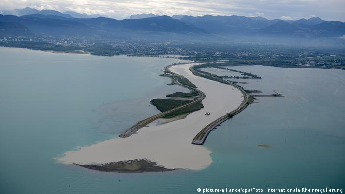 Sand island in Lake Constance (picture-alliance/dpa/Foto: Internationale Rheinregulierung)
