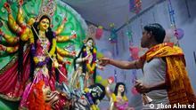 Hindus feiern Durga Puja