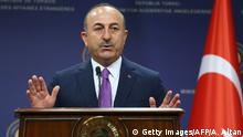 Türkei Mevlut Cavusoglu, Außenminister in Ankara (Getty Images/AFP/A. Altan)