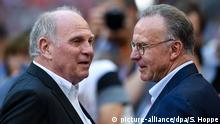 Bayern Munich's Uli Hoeness and Karl-Heinz Rummenigge (picture-alliance/dpa/S. Hoppe)