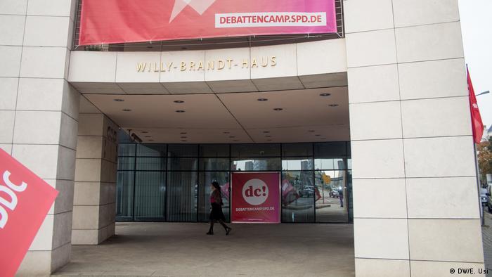 Entrada al edificio que es sede del Partido Socialdemócrata alemán y de la Fundación Willy Brandt.