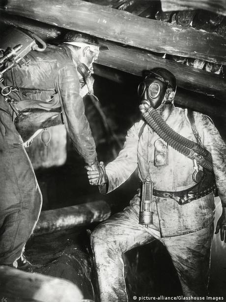 In a mine in the film Kameradschaft