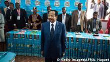 Kamerun Präsidentschaftswahlen Präsident Paul Biya