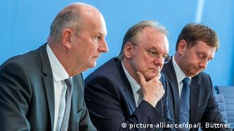 Премьер-министры трех восточногерманских земель