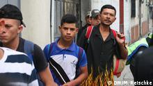 Migranten aus Honduras auf dem Weg in die USA