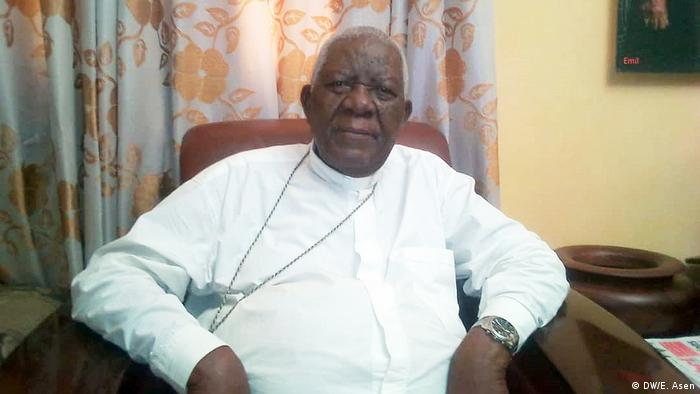 Le Cardinal Christian Tumi, archevêque émérite de Douala au Cameroun.