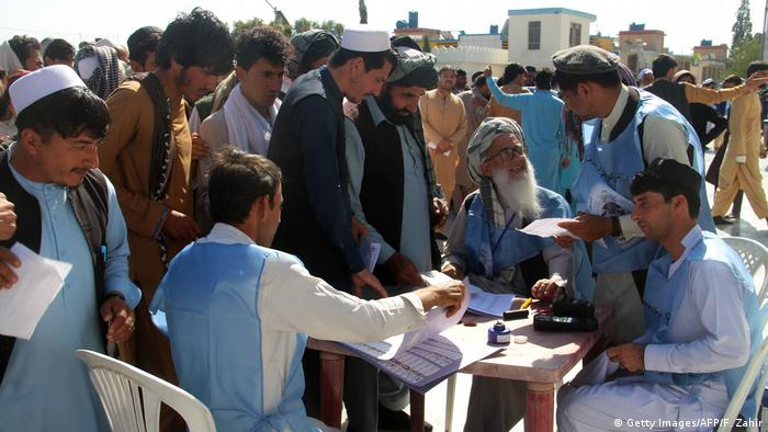 Election post in Afghanistan