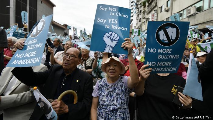 Taiwan Demonstration in Taiwan für Unabhängigkeit (Getty Images/AFP/S. Yeh)