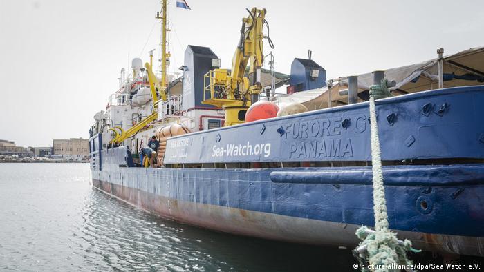 Sea-Watch 3 moored in Valletta