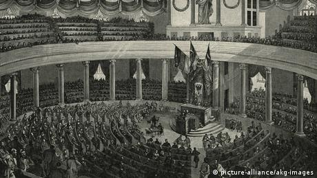 National Assembly in Frankfurt in 1848 (picture-alliance/akg-images)