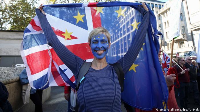 UK Briten protestieren in London für zweites Brexit-Referendum (picture-alliance/dpa/Yui Mok)