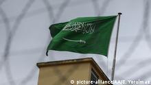 Istanbul Fahne Saudi Arabiens auf Konsulat
