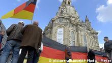 Deutschkland Pegida in Dresden
