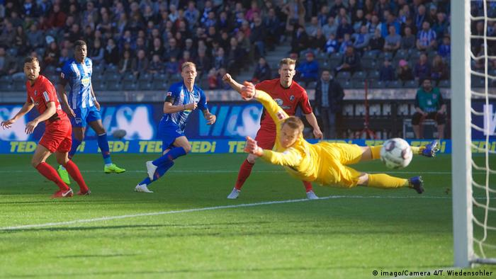Ondrej Duda scores for Hertha Berlin (imago/Camera 4/T. Wiedensohler)