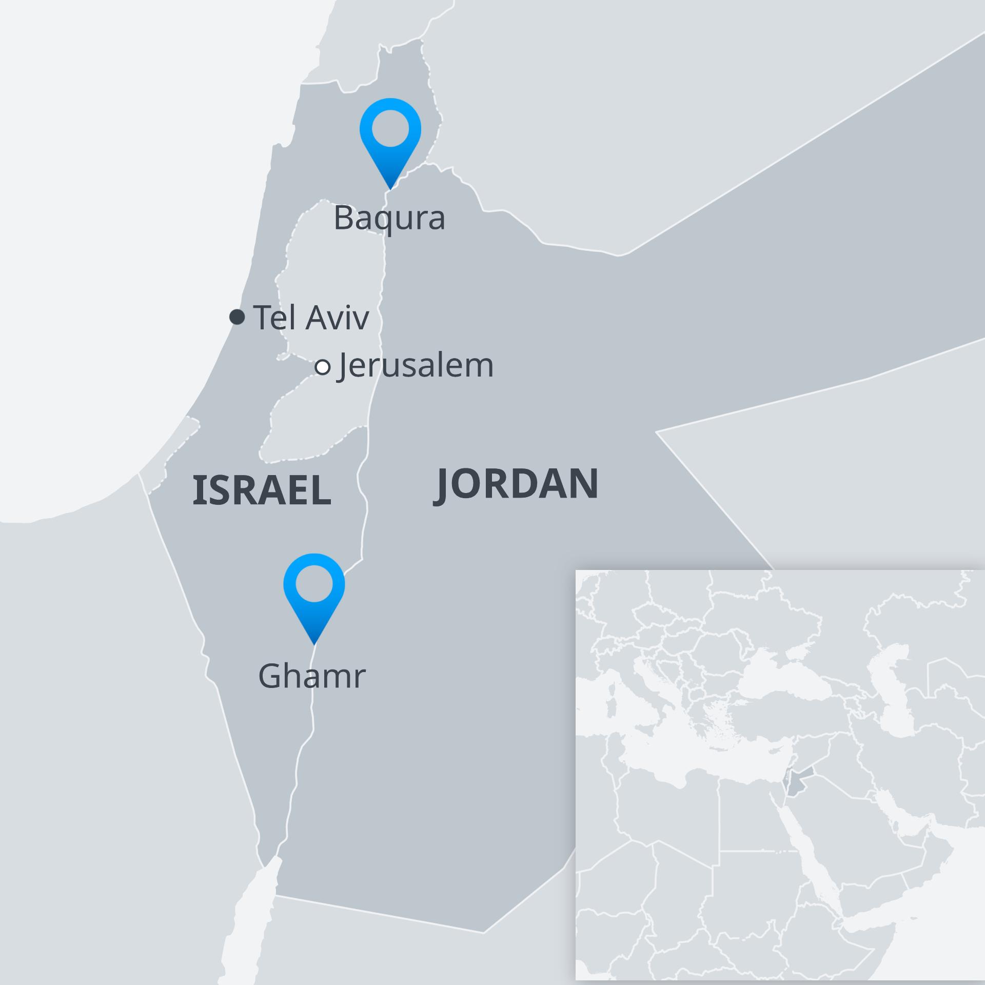 Israel Jerusalem Karte.Jordan S King To Scrap Part Of Israel Peace Treaty News