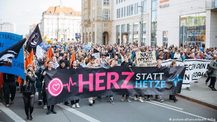 Pegida karşıtı gösteriden