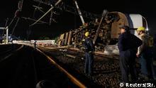 Taiwan Schweres Zugunglück