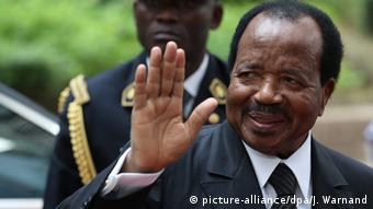 Cameroon's President Paul Biya (picture-alliance/dpa/J. Warnand)