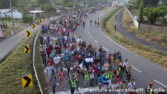Mexiko Mittelamerikanische Migranten auf dem Weg in die USA