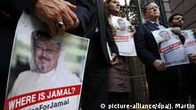 Washington Protest Vermisster Journalist Khashoggi (picture-alliance/dpa/J. Martin)