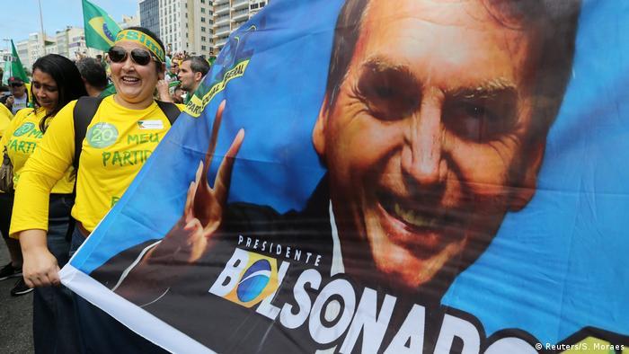Митинг в поддержку кандидата в президенты Бразилии Болсонару