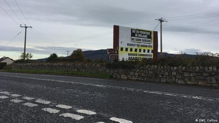 A sign in the Irish-Northern Ireland border area