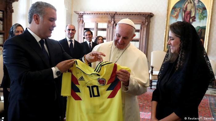 Vatikanstaat Papst Franziskus & Ivan Duque, Präsident Kolumbien