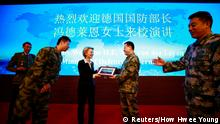 Verteidigungsministerin Ursula von der Leyen in China (Reuters/How Hwee Young)