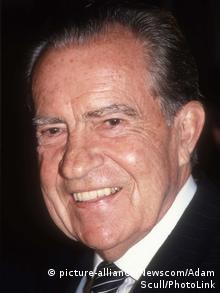 USA Richard Nixon, ehemaliger Präsident, 1990 (picture-alliance/Newscom/Adam Scull/PhotoLink)