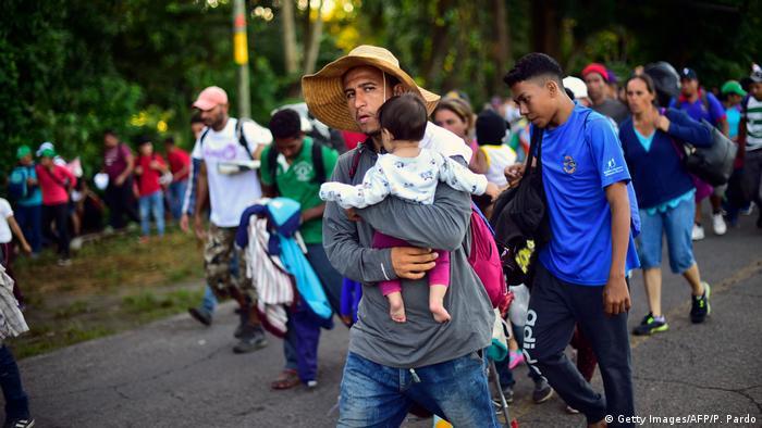 Mexiko Migranten aus Honduras auf dem Weg in die USA