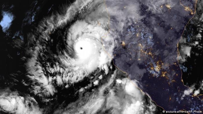 Hurricane Willa storm seen from space