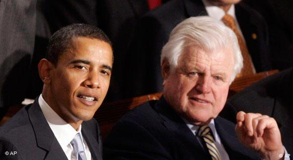 Edward Kennedy dhe Barack Obama.