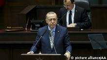 Erdogan bei AKP-Sitzung im türkischen Parlament