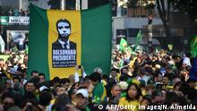 Anhänger des brasilianischen rechtsaußen Präsidentschaftskandidaten Jair Bolsonaro