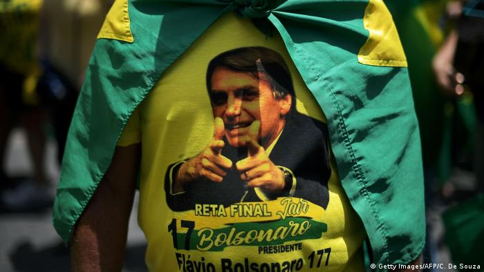 Anhänger des brasilianischen rechtsaußen Präsidentschaftskandidaten Jair Bolsonaro (Getty Images/AFP/C. De Souza)