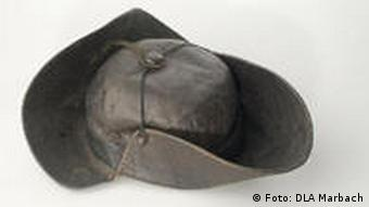 Schiller's hat - on display at the museum at his birthplace in Marbach