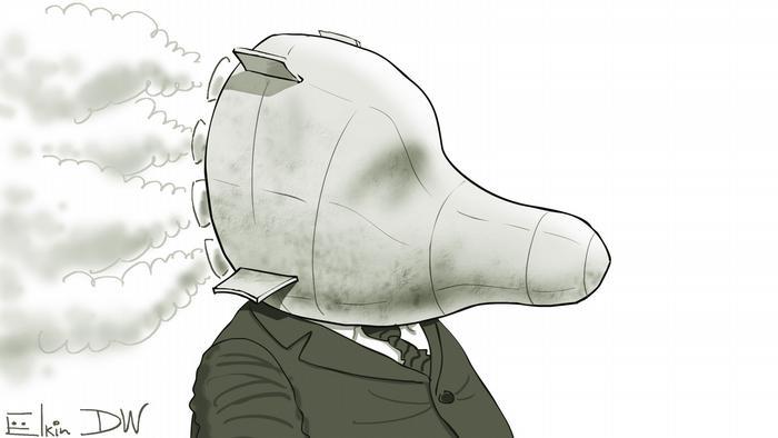 INF Treaty caricature by DW cartoonist Sergey Elkin