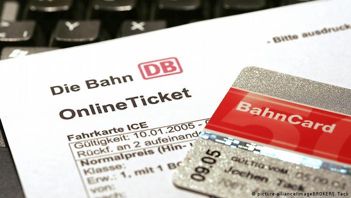 Bilet Deutsche Bahn i karta klienta kolei