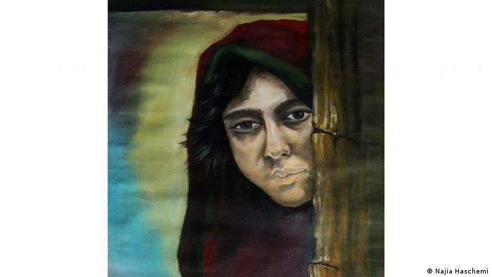 Malerei einer afghanischen Migrantin in Deutschland (Najia Haschemi)