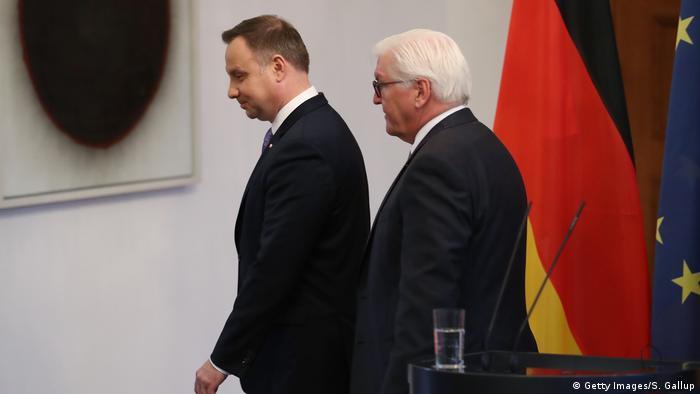 Berlin - Polnischer Präsident Andrzej Duda und Frank-Walter Steinmeier (Getty Images/S. Gallup)