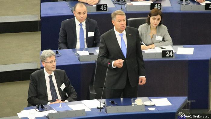 Klaus Iohannis im Europaparlament