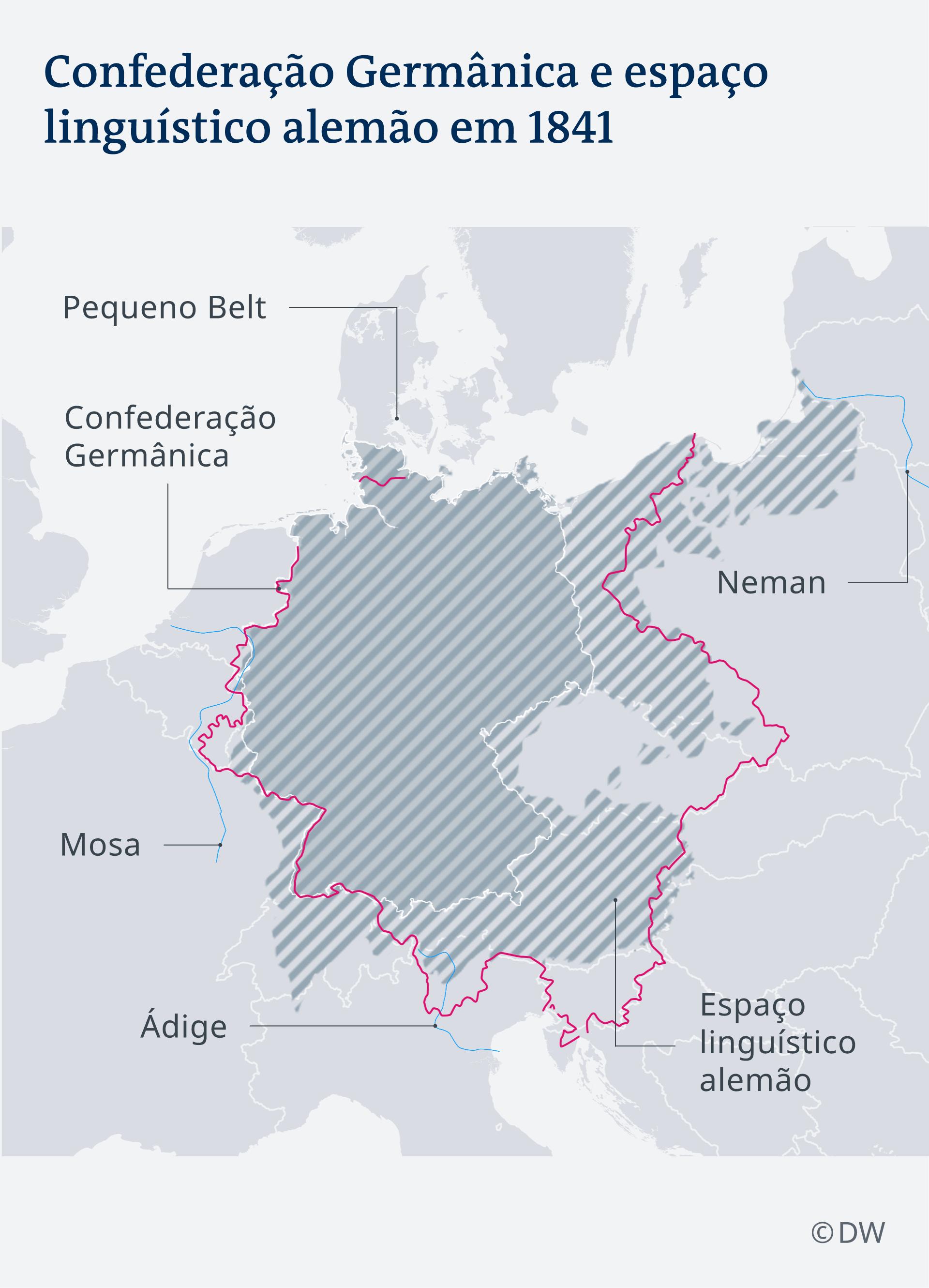 Karte Infografik Deutscher Bund Sprachraum um 1841 PT