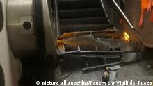 Collapsed escalator in Rome (picture-alliance/dpa/Fire service Vigili del Fuoco)