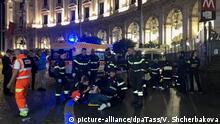 Italien Rom - Einsturz einer Rolltreppe in Rom vor CL-Spiel