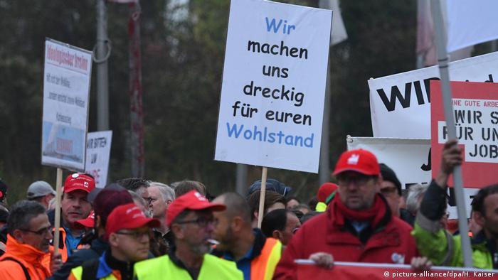 Demonstration gegen Kohlestopp (Foto: picture-alliance)