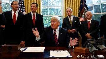 USA Washington Donald Trump zum Fall Khashoggi