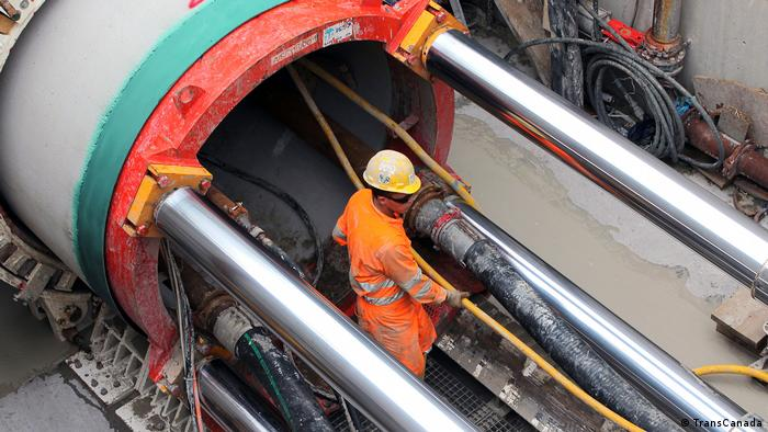 A man working on a gas pipeline