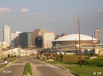 Am Superdome von New Orleans erinnert nichts mehr an die Hurrikan-Katastrophe vor vier Jahren