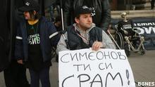 Proteste in Sofia fordern den Rücktritt des bulgarischen Vizepremiers Valeri Simeonov am 23.10.2018. Rechte: BGNES