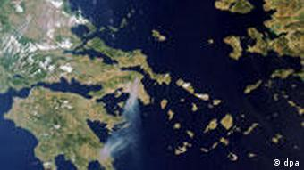 Satellite view of Greece